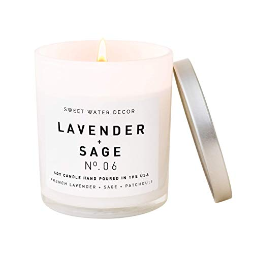 Sweet Water Decor Lavender-Sage Candle