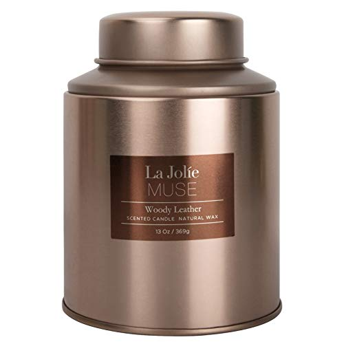 LA JOLIE MUSE Woody Leather Scented Candle