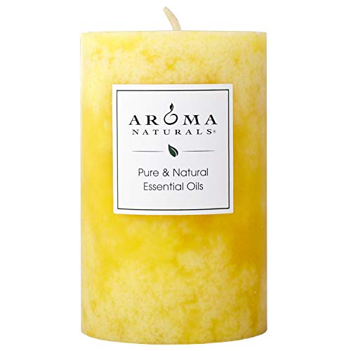 Aroma Naturals Essential Oil Orange and Lemongrass Scented Pillar Candle