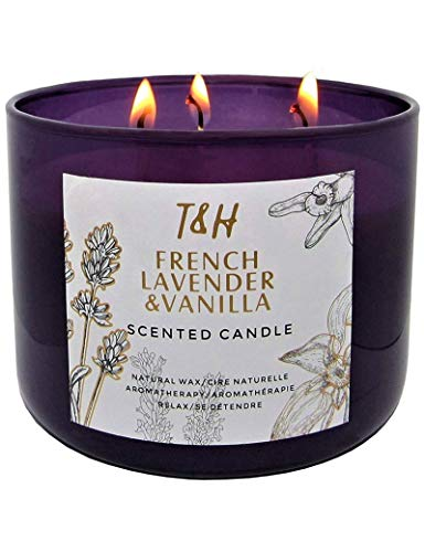 French Lavender Vanilla Aromatherapy Scented Candle