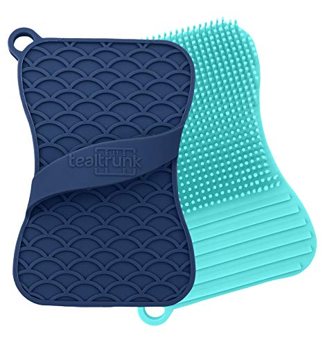 Teal Trunk Odor and Stain Resistant Silicone Sponge and Scrubber
