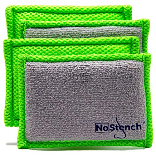 NoStench Microfiber Mesh and Terry Cloth Kitchen Sponge