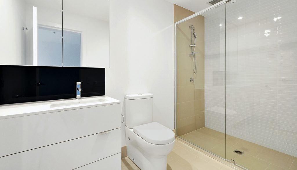 Spotless clean shower glass