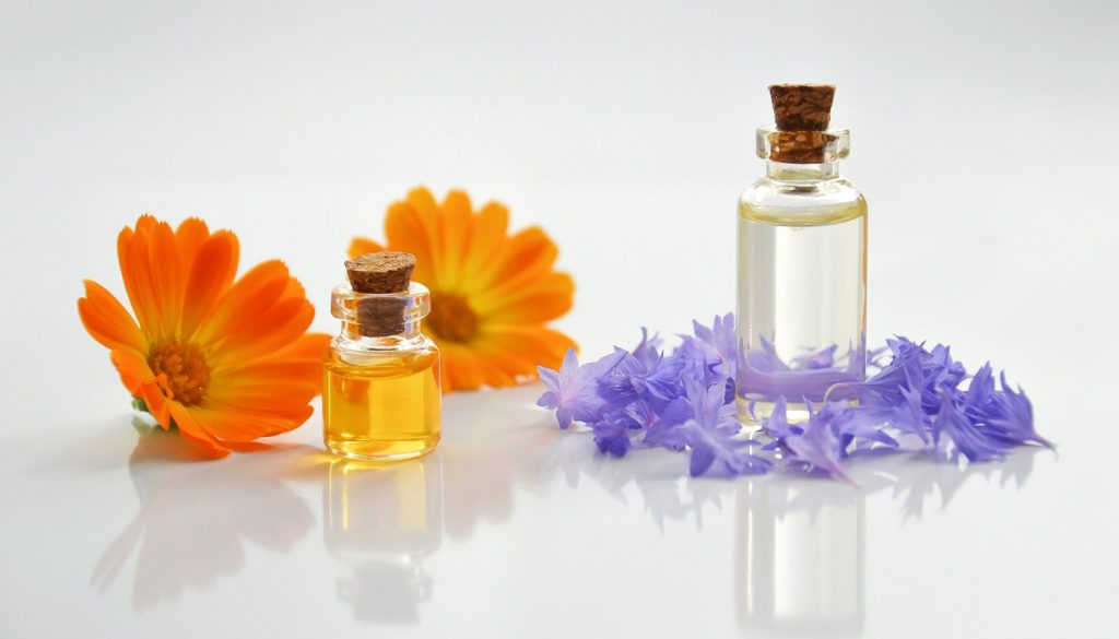 Reed diffuser oils in bottles