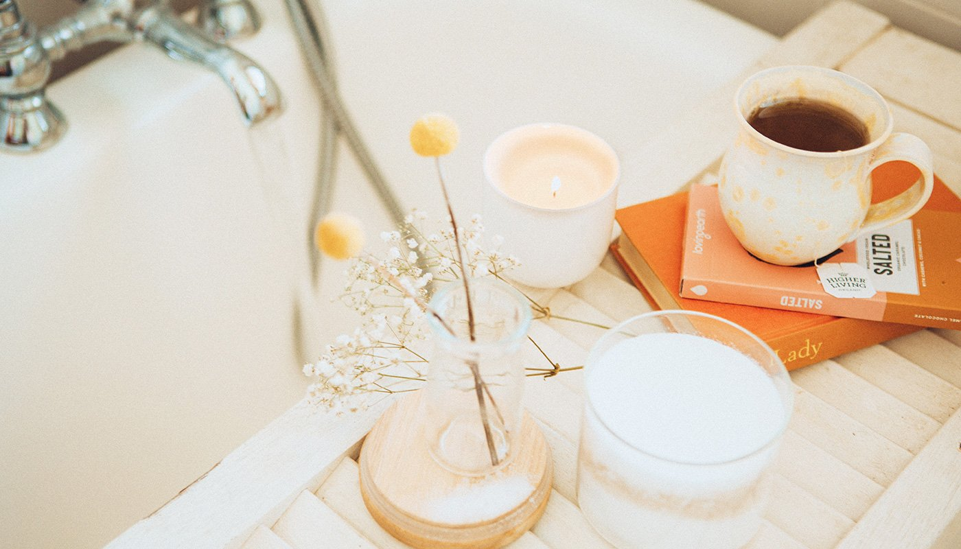 Candle in the bathroom