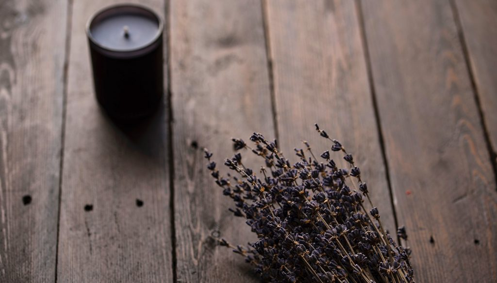 Lavender and scented candle