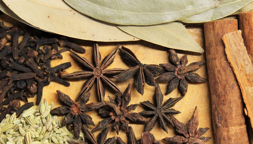 Aromatic spices in the kitchen