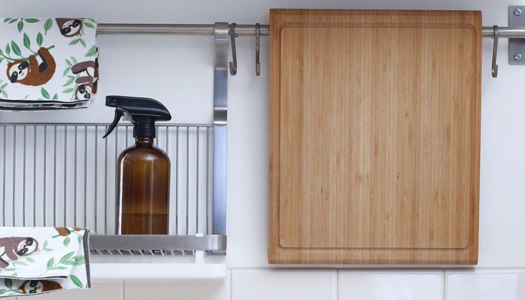 Natural disinfectant spray in the kitchen