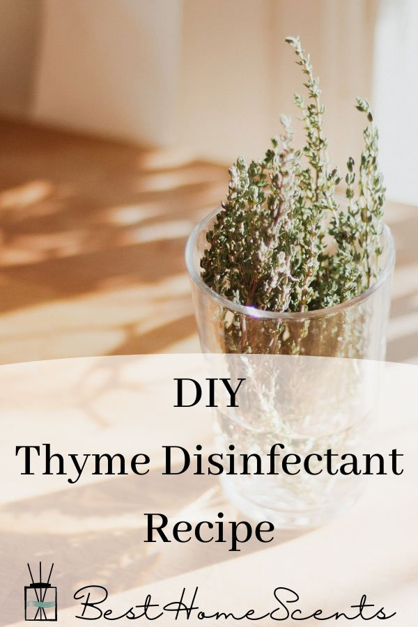 Thyme natural cleaner spray recipe pin