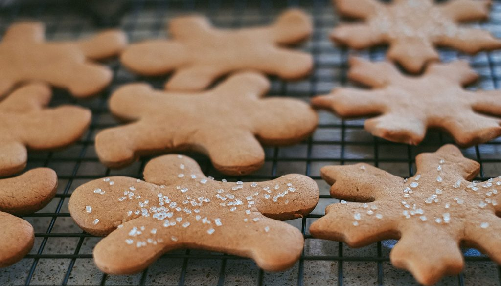 Gingerbread cookies out of the oven